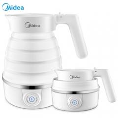美的(Midea)电水壶 食品级硅胶 折叠水壶 烧水壶 电热水壶 旅行携带 智能防干烧 MK-SH06Simple101