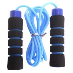 狂神轴承跳绳健身器材家用瘦身减肥器材成人中考专用儿童跳绳KS0740蓝色 泡棉手柄 运动器材家用