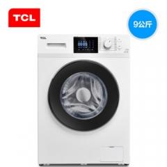 TCL 9公斤 变频全自动滚筒洗衣机 中途添衣 节能静音 16种洗涤程序高温除菌 羽绒服洗 芭蕾白)XQG90-P300B