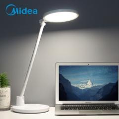 美的(Midea)LED学习台灯 工作阅读学生儿童台灯 触控调光 国AA级照度 定时开关 智沃 典雅白