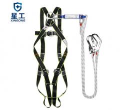 星工(XINGGONG)安全带 高空作业防坠落双绳双背工地带缓冲包五点式安全绳