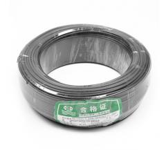 江北 ZR-BV 1×6平方毫米 阻燃铜芯聚氯乙烯绝缘电线 黑 100米/盘