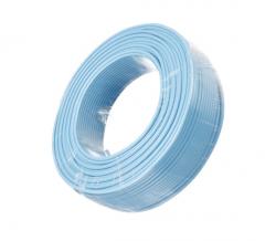 金山 电线电缆 国标阻燃单芯多股塑铜软线ZR-BVR10平方毫米 蓝 100米/盘