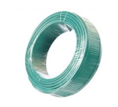金山 电线电缆  国标单芯多股塑铜软线BVR4平方毫米  绿  100米/盘