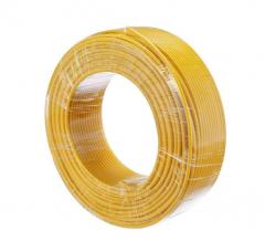 金山 电线电缆 国标阻燃单芯多股塑铜软线ZR-BVR1.5平方毫米 黄 100米/盘