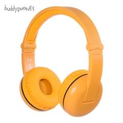 BuddyPhones Play 学生儿童耳机头戴式 无线蓝牙带麦克风话筒  英语口语隔音降噪护耳 黄色