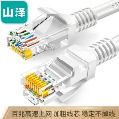 山泽(SAMZHE)超五类网线 CAT5e类高速百兆网线 20米 工程/宽带电脑家用连接跳线 成品网线 贝吉色 ZW-20