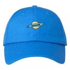 韩铺(hanshop)帽子男女同款棒球帽绣花情侣鸭舌帽户外防晒遮阳帽街头嘻哈帽 HSM82 均码可调节 蓝色