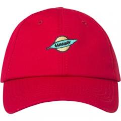 韩铺(hanshop)帽子男女同款棒球帽绣花情侣鸭舌帽户外防晒遮阳帽街头嘻哈帽 HSM82 均码可调节 红色