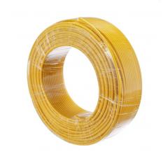 金山 电线电缆  国标单芯多股塑铜软线BVR2.5平方毫米  黄  100米/盘