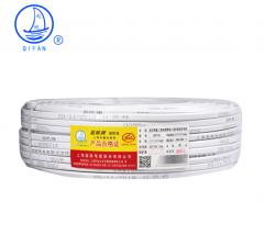 起帆(QIFAN)起帆电线电缆 BVVB3*1.5平方国标三芯护套线 家装家用铜芯硬线电线 白色100米