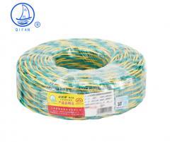 起帆(QIFAN)起帆电线电缆 RVS2*1.5平方双绞线 家装国标电源花线 铜芯软线 黄绿 100米