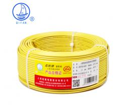 起帆(QIFAN)起帆电线电缆 RV25平方国标铜芯特软线 多股软线 导线信号线 黄色 50米