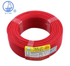 起帆(QIFAN)起帆电线电缆 BV6平方国标家装单芯单股铜芯硬线 红色火线 100米