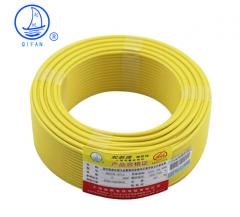 起帆(QIFAN)起帆电线电缆 BV6平方国标家装单芯单股铜芯硬线 黄色零线 100米