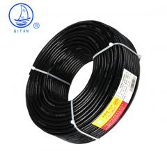 起帆(QIFAN)电线电缆 RVVP2*1平方屏蔽线信号传输线电源线 2芯铜芯软护套线 黑色 100米
