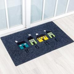 丽家地毯 除尘垫地垫耐磨客厅卧室厨房餐厅防滑垫蹭蹭垫系列 浅灰房子 50*80cm