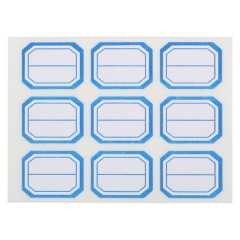晨光(M&G)文具25*34mm/90枚蓝框自粘性标签贴纸 便利便签条 百事贴 价格条标签贴 9枚/张YT-12