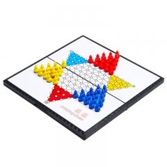 先行者跳棋磁性折叠跳棋棋盘E-5 中号便携式 磁石棋子桌游娱乐棋类玩具
