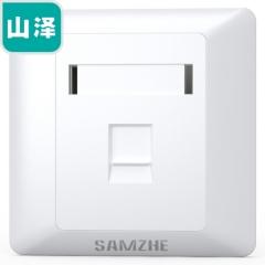 山泽(SAMZHE)电脑插座网口面板 网络电话信息网线面板 超五类六类七类模块加厚86型面板豪华型单口WAN-01