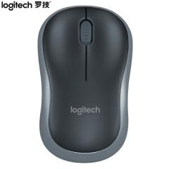 罗技(Logitech)M185(M186) 鼠标 无线鼠标 办公鼠标 对称鼠标 黑色灰边 带无线2.4G接收器