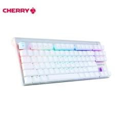 樱桃(CHERRY)MX8.0 G80-3888HXAEU-0 机械键盘 有线键盘 87键RGB背光  白色 樱桃茶轴