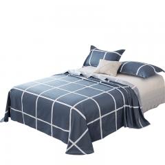 红瑞家纺 全棉床单 纯棉被单宿舍加厚双人床单单件 1.5/1.8米床通用  230*250cm  (休闲午后)