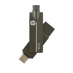 惠普(HP)32GB Type-C USB3.1 手机U盘 x5200m高速读写版 可旋转双接口手机电脑两用优盘