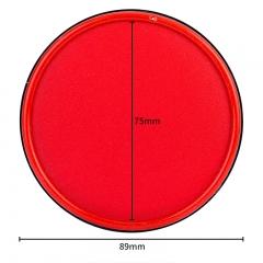得力(deli)φ89mm金属圆盖财务快干印台印泥 办公用品 红色9859