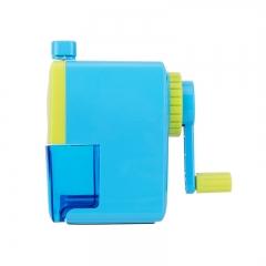 得力(deli)学生撞色款手摇削笔机/铅笔削笔器/转笔刀/卷笔刀 蓝色0616