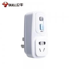 公牛(BULL)新国标防漏电保护器插头10A无线插头常规版GN-920L