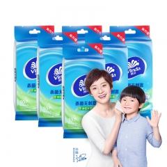 维达(Vinda) 湿巾纸巾 冰爽醒肤 10片独立装*6包 (量贩装)