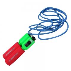 健乐机械计数跳绳泡棉塑料柄可调耐磨PU健身成人学生儿童343颜色随机