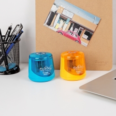 广博(GuangBo)学生电动自动卷笔刀削笔机 蓝橙颜色随机 单个装XBQ9504