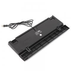 现代(HYUNDAI)青轴机械键盘104键纯机械青轴人体工学电竞游戏机械键盘 带手托HY-MK240黑色