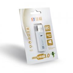 沣标(FB) 306多合一迷你读卡器 高速USB3.0 多功能直读相机SD卡SDHC TF MicroSD内存卡2合1
