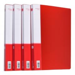 正彩递乐 文具单夹文件夹插页A4单强力夹商务档案资料夹试卷夹办公用品 1103红色