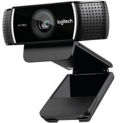 罗技(Logitech)C922 高清网络摄像头 主播高清摄像头 1080P