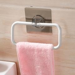 佳佰 毛巾架挂架免打孔卫生间浴室厨房毛巾杆浴巾置物架吸盘单杆毛巾支架