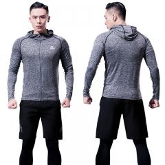普为特POVIT 运动套装男士健身服夏季运动跑步篮球服吸汗透气速干紧身衣六件套 XL码 P-842