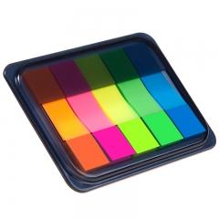 齐心(Comix)3个装荧光膜指示标签/便签条/便利贴/百事贴 (44x12mm)20张*5色 办公文具 D7012EC