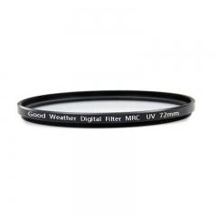 天气不错 72mm超薄多层镀膜MRCUV滤镜 适合佳能EF-S18-200/15-85尼康AF-S24-85/AF-S 18-200等镜头