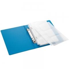 齐心(Comix) A5307 央格系列便携式名片册120枚(60袋) 蓝色