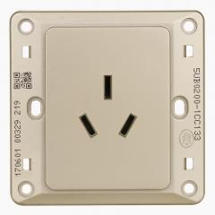 西门子(SIEMENS)开关插座 远景系列 16A三孔插座面板 空调热水器插座 (金棕色)