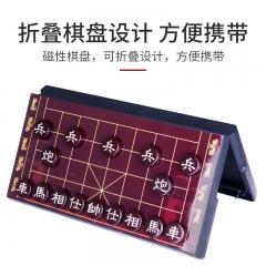 先行者仿玉象棋桌游中国象棋棋盘套装A-8 大号红色仿玉磁石棋子 折叠棋类玩具