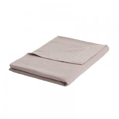 大朴(DAPU)毯子家纺 A类棉麻褶皱毛巾被 棉麻毛毯盖毯 薄被 浅棕 双人 140*200cm