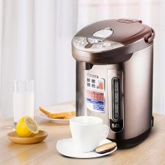 美的(Midea)电热水瓶热水壶电水壶304不锈钢水壶热水瓶5L容量多段温控电水壶双层防烫烧水壶PF703-50T