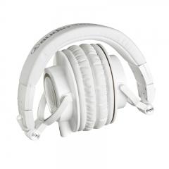 铁三角(Audio-technica)ATH-M50X WH 头戴式专业全封闭音乐HIFI耳机 白色