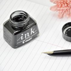 日本百乐(PILOT)非碳素墨水 不堵笔钢笔墨水30ml 黑色INK-30-B原装进口