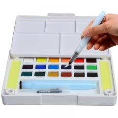 樱花 固体水彩颜料18色套装 NCW-18H  写生学生绘画用品